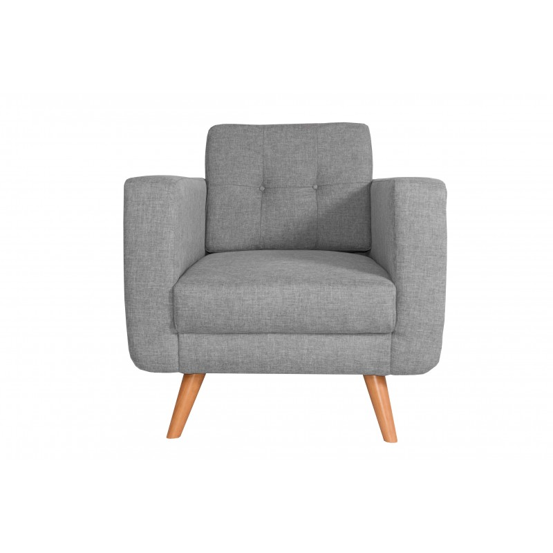 Fauteuil Tissu - HEDWIG gris clair 1