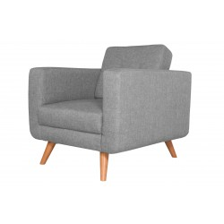 Fauteuil Tissu - HEDWIG gris clair 2