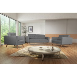 Fauteuil Tissu - HEDWIG gris clair 5