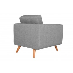 Fauteuil Tissu - HEDWIG gris clair 3