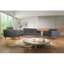 Fauteuil Tissu - HEDWIG gris fonce 5