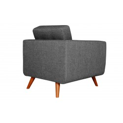 Fauteuil Tissu - HEDWIG gris fonce 3