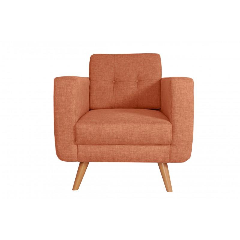 Fauteuil Tissu - HEDWIG gris orange 1