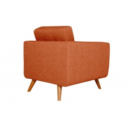 Fauteuil Tissu - HEDWIG gris orange 3