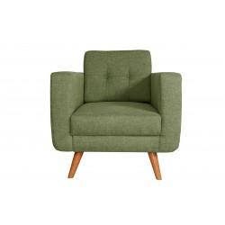 Fauteuil Tissu - HEDWIG gris vert 1