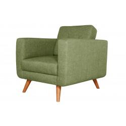 Fauteuil Tissu - HEDWIG gris vert 2