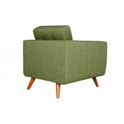 Fauteuil Tissu - HEDWIG gris vert 3