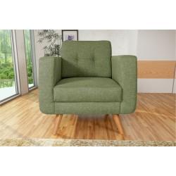 Fauteuil Tissu - HEDWIG gris vert 4