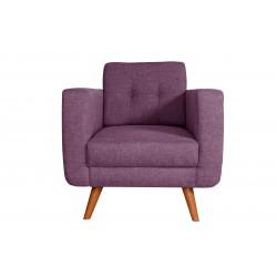 Fauteuil Tissu - HEDWIG gris violet 1