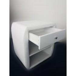 Table de Chevet Boxspring Blanche 2