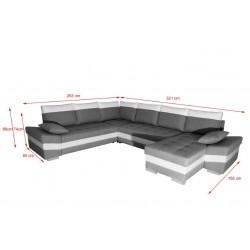 Canapé Panoramique Convertible - SAMOA GCBL AG 4
