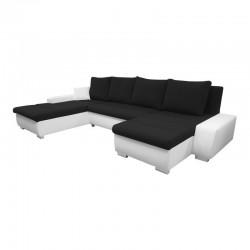 Canapé Convertible + Coffre - ALAMA MAX noir et blanc 1