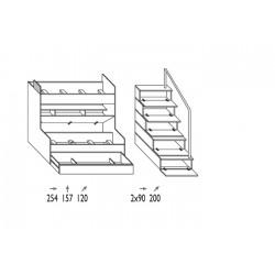 Chambre à coucher Enfant - KIDS 2 Dimensions