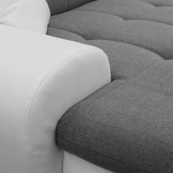 Canapé Panoramique Convertible VERONA gris clair et blanc AD 5