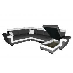 Canapé Panoramique Convertible Réversible Coffre - MOKKA 2