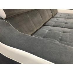 Canapé Angle Conertible Réversible + Coffre - CALYS gris foncé 4