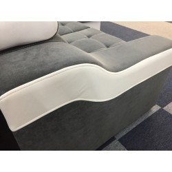 Canapé Angle Conertible Réversible + Coffre - CALYS gris foncé 6