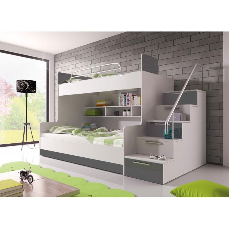 Chambre à coucher Enfant - KIDS 2 gris 1