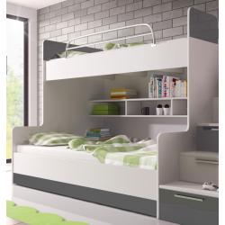 Chambre à coucher Enfant - KIDS 2 gris 2