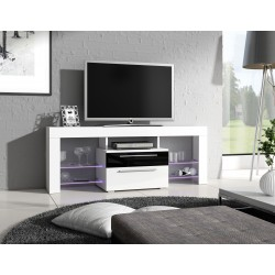 Meuble TV - HAVANA noir et blanc 1