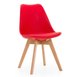 Chaise Scandinave Rouge