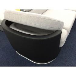 Canapé Angle 4 Places - ICE gris clair et noir 3