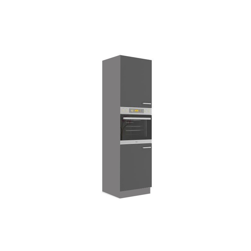 Meuble colonne four 2 portes cuisine scarlett 60 - Meuble colonne cuisine 60 cm ...