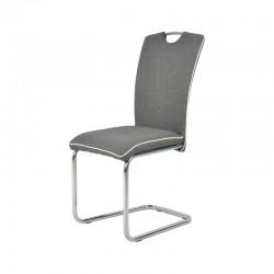 Chaise de Salon Tissu -TAL gris foncé