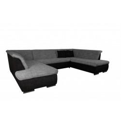 Canapé Panoramique Convertible SALEMA gris/noir 1
