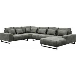 Canapé Panoramique angle gauche - ANTWERP gris 1
