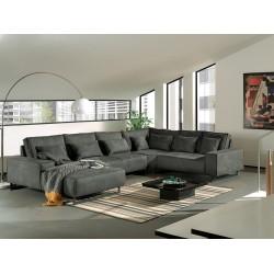 Canapé Panoramique angle droit - ANTWERP gris 2