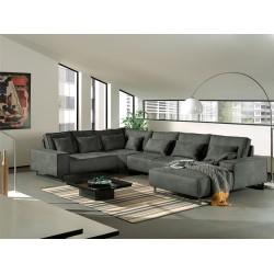 Canapé Panoramique angle gauche - ANTWERP gris 2