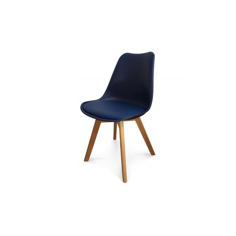 Chaise Scandinave bleu marine 1