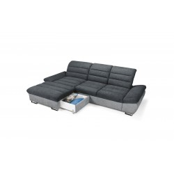 Canapé d'Angle Convertible Coffre - ROMA 1
