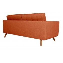 Canapé 3 Places Tissu - HEDWIG orange 3