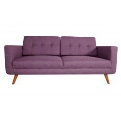 Canapé 3 Places Tissu - HEDWIG violet 1