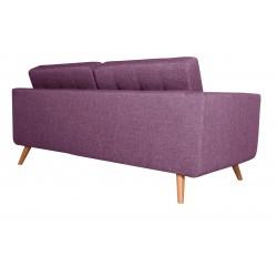Canapé 3 Places Tissu - HEDWIG violet 3