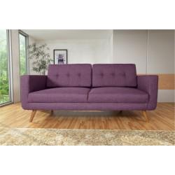 Canapé 3 Places Tissu - HEDWIG violet 4
