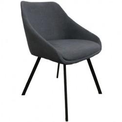 Chaise - ADAM gris foncé 1