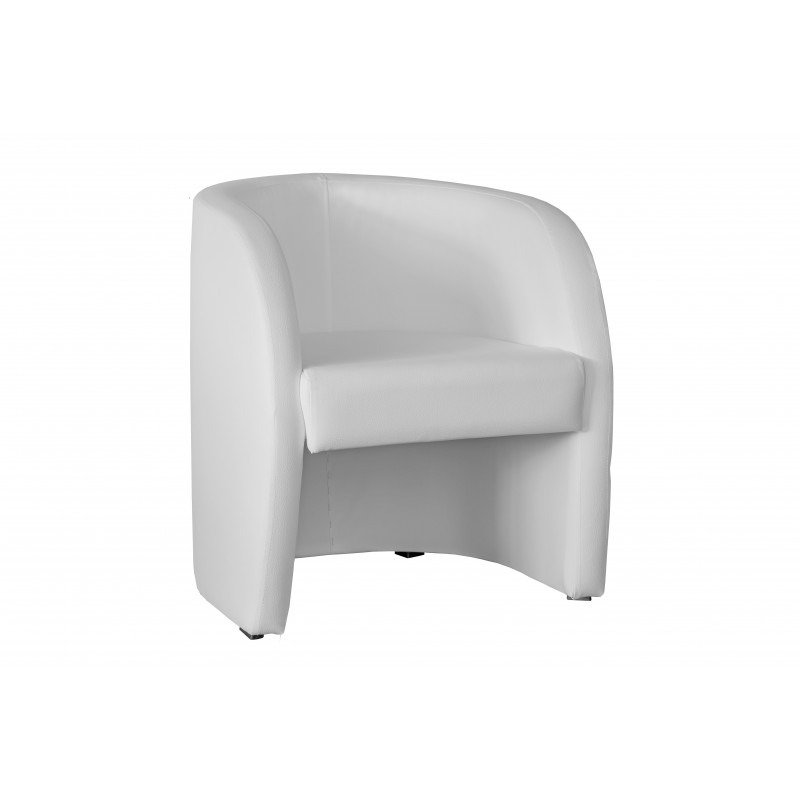 Fauteuil cabriolet LILLY Simili Blanc 1