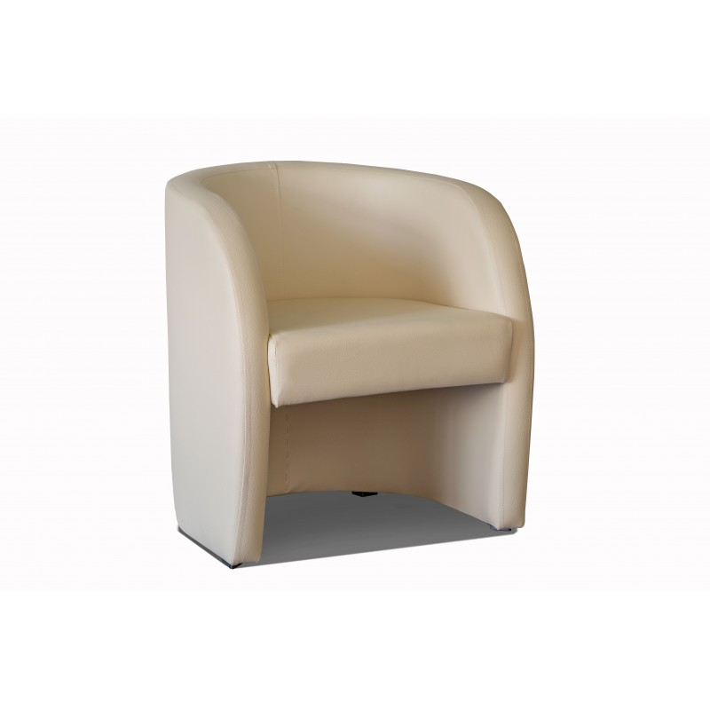Fauteuil cabriolet LILLY Simili beige 1