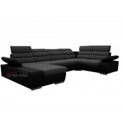 Canapé XL angle droit gris foncé / noir 1