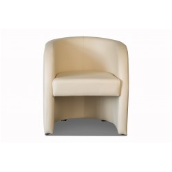 Fauteuil cabriolet LILLY Simili Beige 3