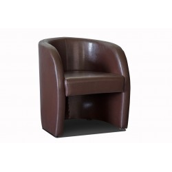 Fauteuil cabriolet LILLY Simili marron 1