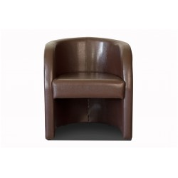 Fauteuil cabriolet LILLY Simili marron 2