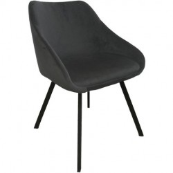 Chaise - ADAM noir 1