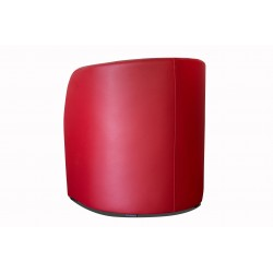 Fauteuil cabriolet LILLY Simili rouge 2