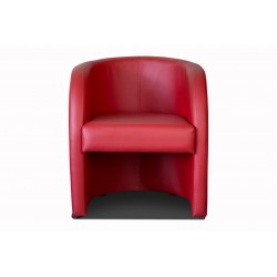 Fauteuil cabriolet LILLY Simili rouge 3