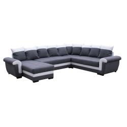 Canapé Panoramique droit lux 06 / blanc - MOKKA 1