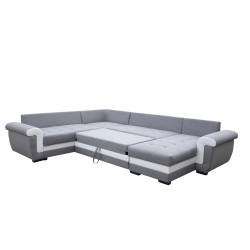 Canapé Panoramique gauche lux 05 / blanc - MOKKA 5